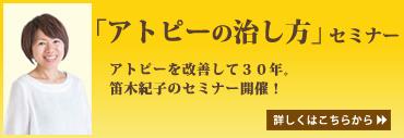 笛木紀子の「アトピーの治し方」セミナー